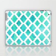 Watercolor Mint Diamonds Laptop & iPad Skin