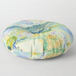 "Henri-Edmond Cross ""Paysage"" Floor Pillow"