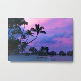 Tahitian Sunset Metal Print