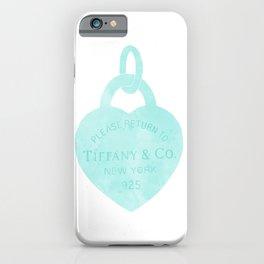 Tiffany heart locket charm iPhone Case