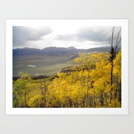Theres Still Gold Above the Valley Art Print