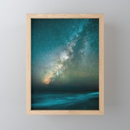 Gorgeous Blue Crystal Galaxy Framed Mini Art Print