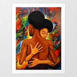 Afro Embrace Art Print
