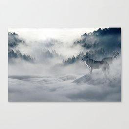 Wolves loup 2 Canvas Print