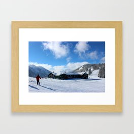 The Cliffhouse in Buttermilk Framed Art Print