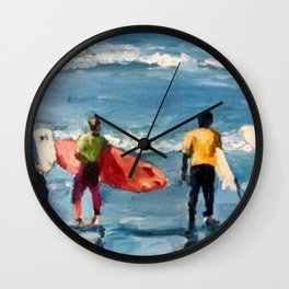 Crown City Surf Kids Wall Clock