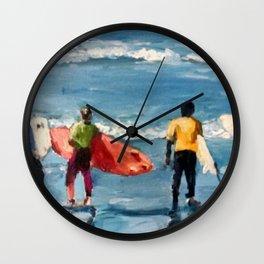 Crown City Surf Kids Wall Clock