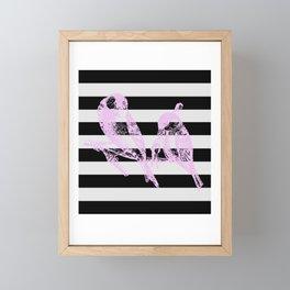 2 Love Birds Framed Mini Art Print