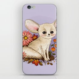 Fennec Fox with Chinese Lanterns iPhone Skin