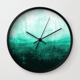 Paint 8 abstract minimal modern water ocean wave painting must have canvas affordable fine art Wall Clock