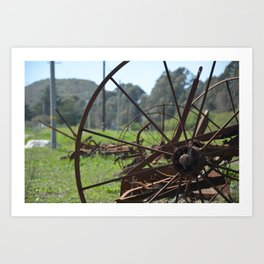 Old and rusted but not forgotten Art Print