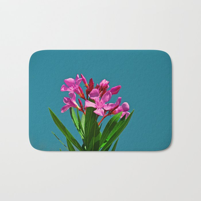 Pretty in pink under turquoise sky Bath Mat