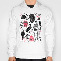 modern Hoodies featuring Whole Lotta Horror by Josh Ln