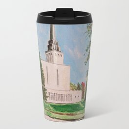 London England LDS Temple Painting Travel Mug