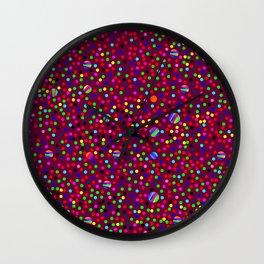Colorful Rain 03 Wall Clock