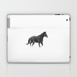 Running Horse in Black and White Laptop & iPad Skin