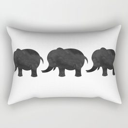 Three Baby Elephants Rectangular Pillow