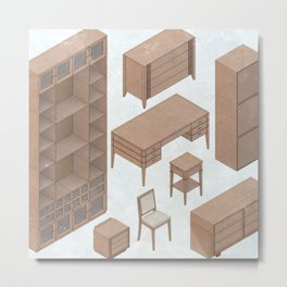 cute furniture Metal Print