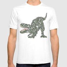 Tyrannosaurus Rex MEDIUM White Mens Fitted Tee
