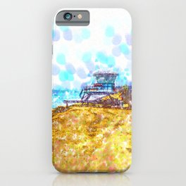 Life Guard Station On A Lonely Beach iPhone Case