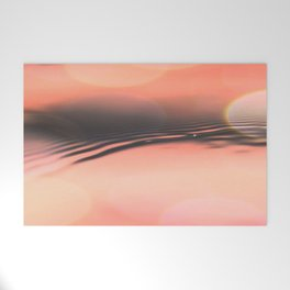 Sunset on Water Welcome Mat