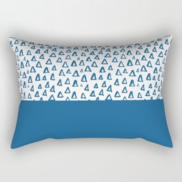 Triangles Blue Rectangular Pillow
