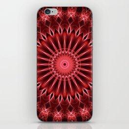 Glowing red mandala iPhone Skin
