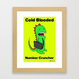 Business Lizard Framed Art Print