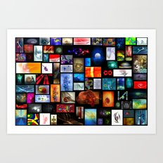Abstract Art Collage Art Print