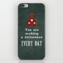 You are making a difference iPhone Skin