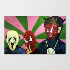 Spiderman, the Devil and Friend Canvas Print