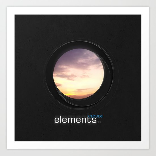 elements | clouds Art Print
