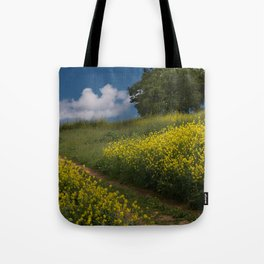 Almaden Meadows' Mustard Blossoms Tote Bag