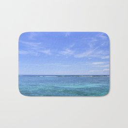 Whispy Clouds and Whitecaps - Tropical Horizons Series Bath Mat