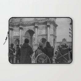 Cyclists, Le Louvre, Paris Laptop Sleeve