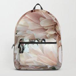 Dreamy Dahlia Cream Blush Pink Floral Decor Backpack