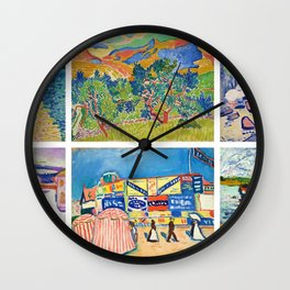 Henry Matisse Collage - 6 Views of England & France, Charing Cross, Mts. Colloure, River Thames, Wall Clock
