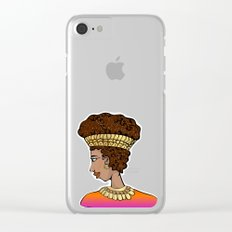 Nubian Beauty Clear iPhone Case