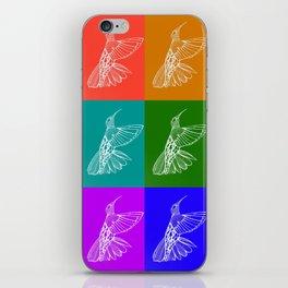 Rainbow Hummingbirds iPhone Skin