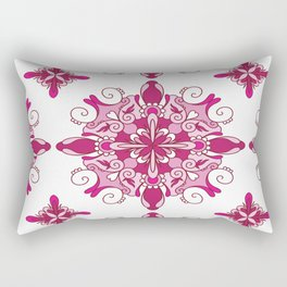 Rosy mandala glam Rectangular Pillow