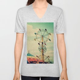 Get your ticket to ride. Unisex V-Neck