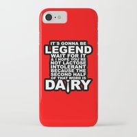himym iPhone & iPod Cases featuring HIMYM: Legendary by dutyfreak