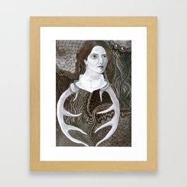 Antler Lady Framed Art Print