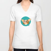 gizmo V-neck T-shirts featuring Gizmo by Designs By Misty Blue (Misty Lemons)