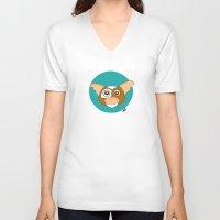 gizmo V-neck T-shirts featuring Gizmo by Designs By Misty Blue (Misty Lemons)