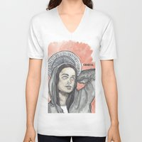 oitnb V-neck T-shirts featuring Pennsatucky OITNB by Ashley Rowe