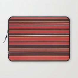 Red and Chocolate Brown Stripes Laptop Sleeve