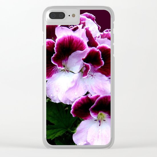 Pink, Purple, Flower Power Clear iPhone Case