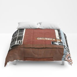 Greenwich Street in New York Comforters