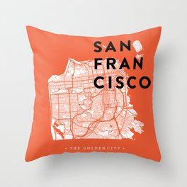 San Francisco Map 04 Throw Pillow